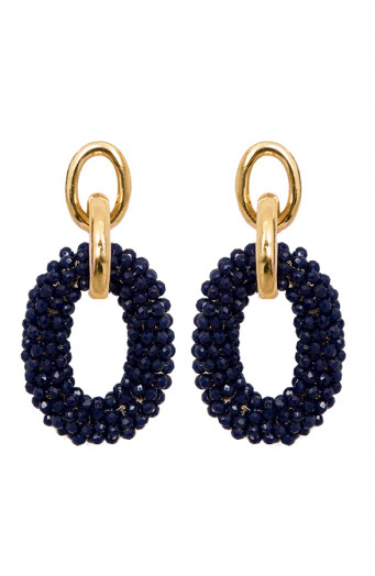 Oval-Luxury-Oorbellen-Navy'