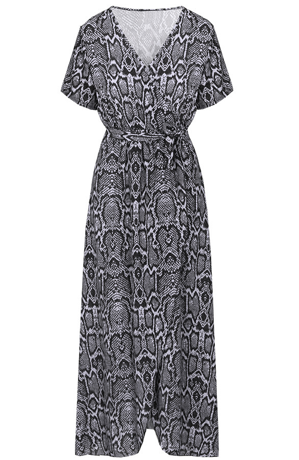 Chloe-Snake-Dress-Grey