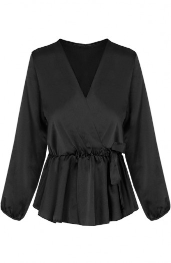 Blaire-Satin-Blouse-Black'