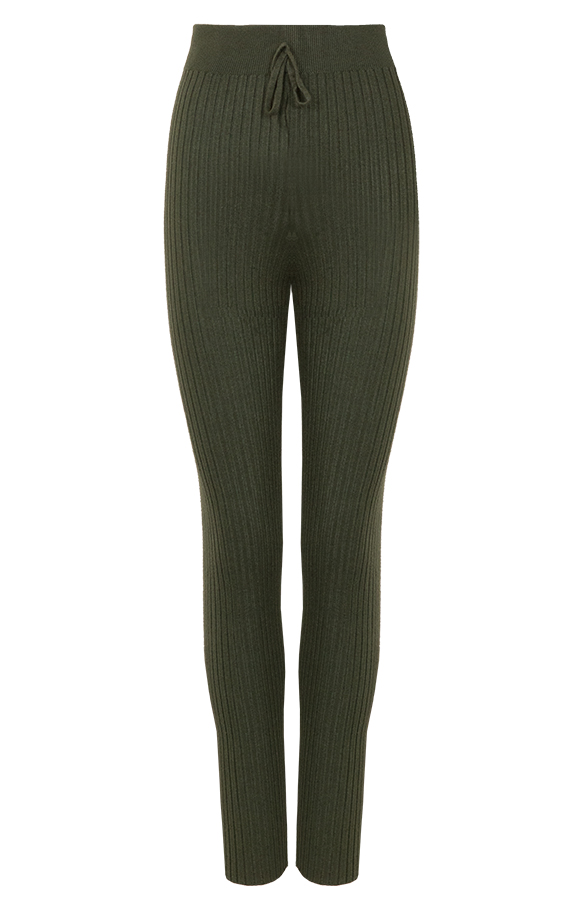 Legging-Knitted-Army