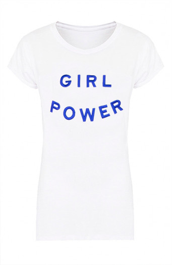 Girl-Power-Tee-Wit-Blauw'