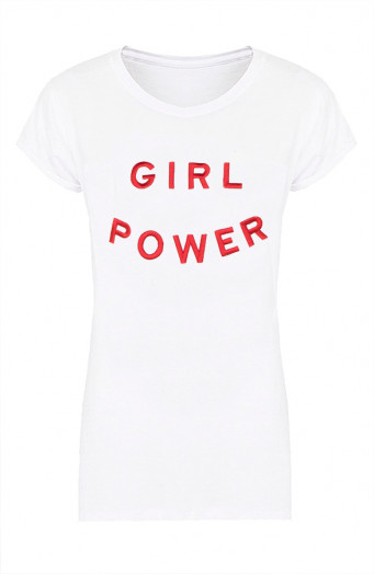Girl-Power-Tee-Wit-Rood'