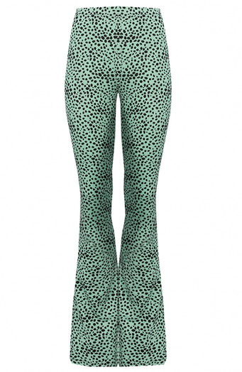 Janine-Flared-Broek-Cheetah-Mint'