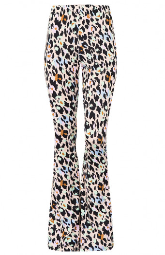 Janine-Flared-Broek-Cheetah-Pastel'