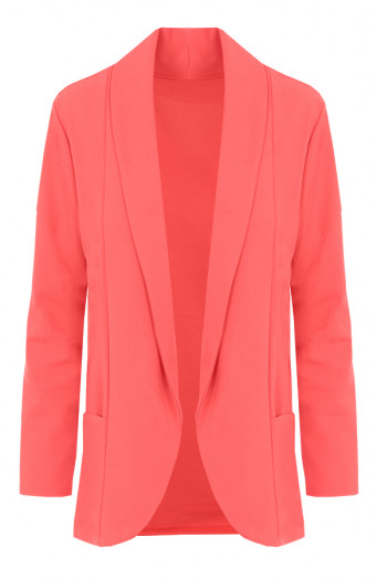 Basic-Blazer-Koraalrood'
