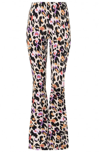 Janine-Flared-Broek-Panter-Multicolor'