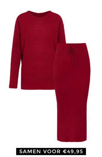 Maureen-Twinset-2-Piece-Bordeaux'