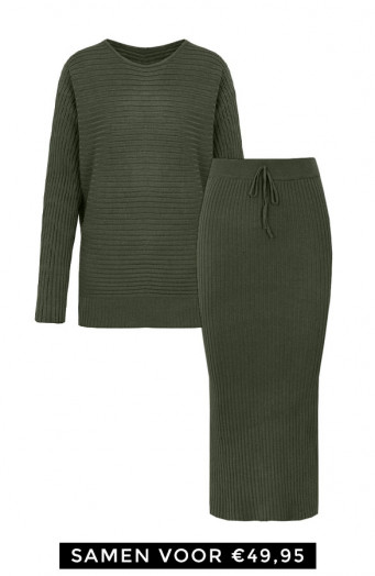 Maureen-Twinset-2-Piece-Legergroen'