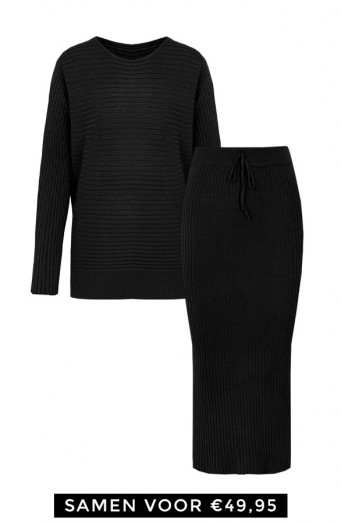 Maureen-Twinset-2-Piece-Zwart'