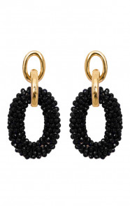 Bella-Oval-Earrings-Zwart