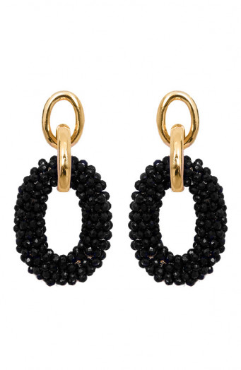 Bella-Oval-Earrings-Zwart'