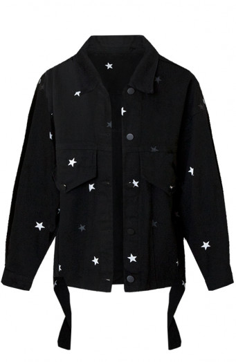 Tara-Star-Jacket-Zwart'