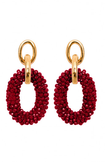 Bella-Oval-Earrings-Bordeaux'