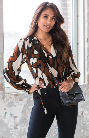 Legerprint-Blouse-Yvet-Cognac-2'