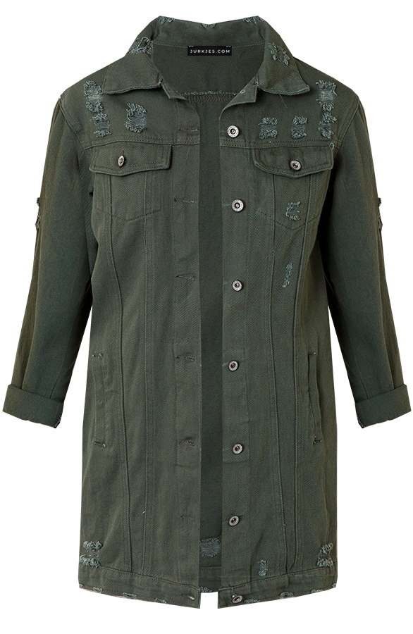 Sarah-Denim-Jacket-Legergroen