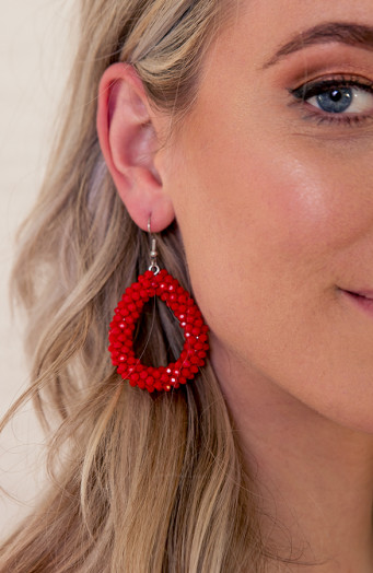 Bella-Oval-Earrings-Red-2'