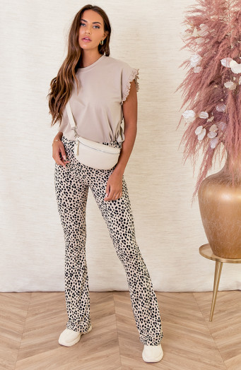 Janine-Flared-Broek-Panter-Creme-2'