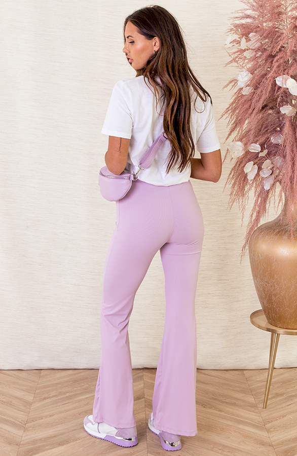 Pascalle-Flared-Broek-Ribstof-Lila-3