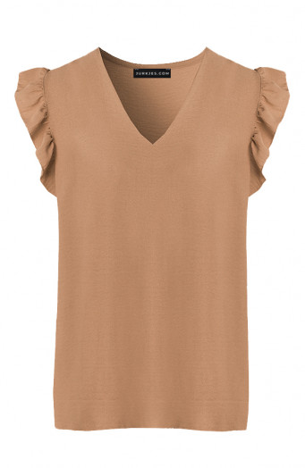 Ruches-Blouse-Camel-4'