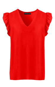 Ruches-Blouse-Audrina-Rood'