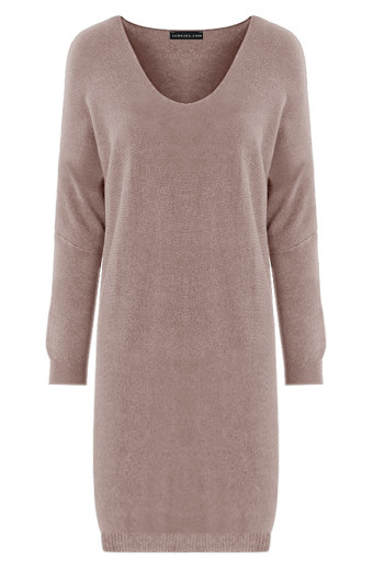 Oversized-Sweater-Dress-Rosanne-Taupe'